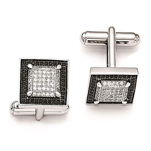 925 Sterling Silver Cubic Zirconia Cz Cuff Links Mens Cufflinks Man Link Fine Jewelry For Dad Mens Gifts For Him