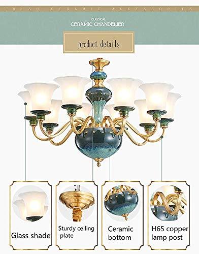 Plafondlamp kroonluchter volledig koper keramiek modern modern minimalistisch eenvoudige sfeer creatief zuiver koper vloerlampen wqefsdf's