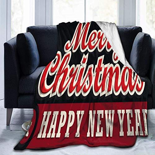 Throw Blanket Feliz Navidad Feliz Año Nuevo PNG Silla para Todas Las Estaciones 102X127Cm Acogedor Sofá Cálido Especial para El Hogar Manta Suave para Cama Cama Ligera Manta De La