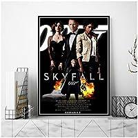 Suuyar 映画スカイフォール007ジェームズボンドポスターとプリント壁アートプリントリビングルーム用キャンバスホームベッドルーム装飾-24X32インチX1フレームレス