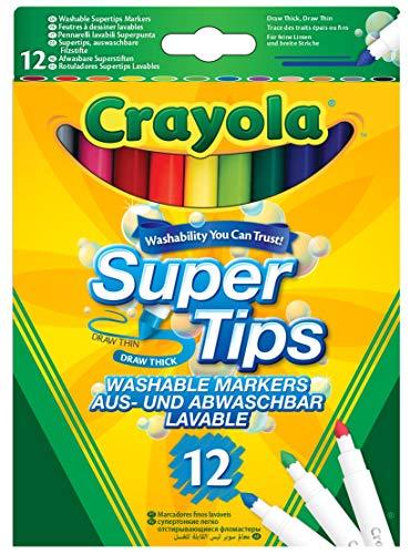Crayola 03.7509DM - 12 Supertips viltstiften eenvoudig uitwasbaar