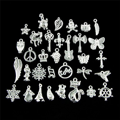 Cat Charms for Jewelry Making Metal Pendants Crafting Supplies for Adults Girls