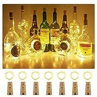 ❉【Une nouvelle façon de recycler les bouteilles avec amour】: Blanc chaud le plus populaire, Bouteille Guirlande Liège Lampes, Les luminaires en liège à la chaleur et au design écologique Cute Bottle pourraient créer une atmosphère romantique et chale...