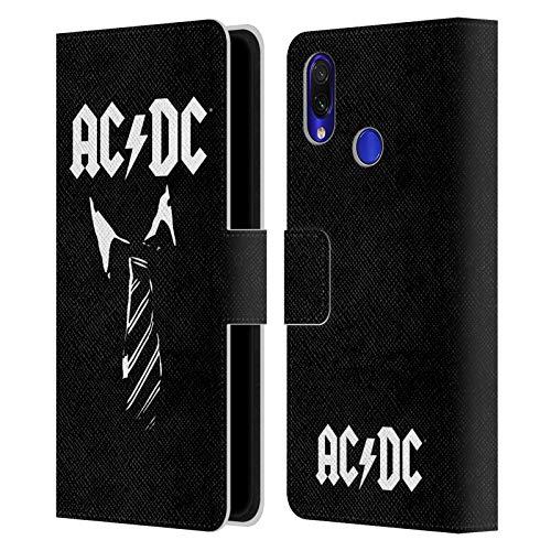 Head Case Designs Licenciado Oficialmente AC/DC ACDC Corbata Icónico Carcasa de Cuero Tipo Libro Compatible con Xiaomi Redmi Note 7/7 Pro