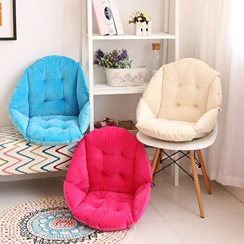 TIGOXL Semi-Enclosed One SeatCushion Chair Cushions Desk Seat Cushion Warm Comfort Sea (Rose red, Big)