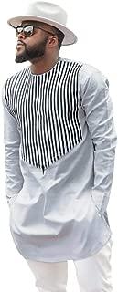 Beautyfine Men's Dashiki Shirt Top Blouse,Autumn Winter Luxury African Print Long Sleeve