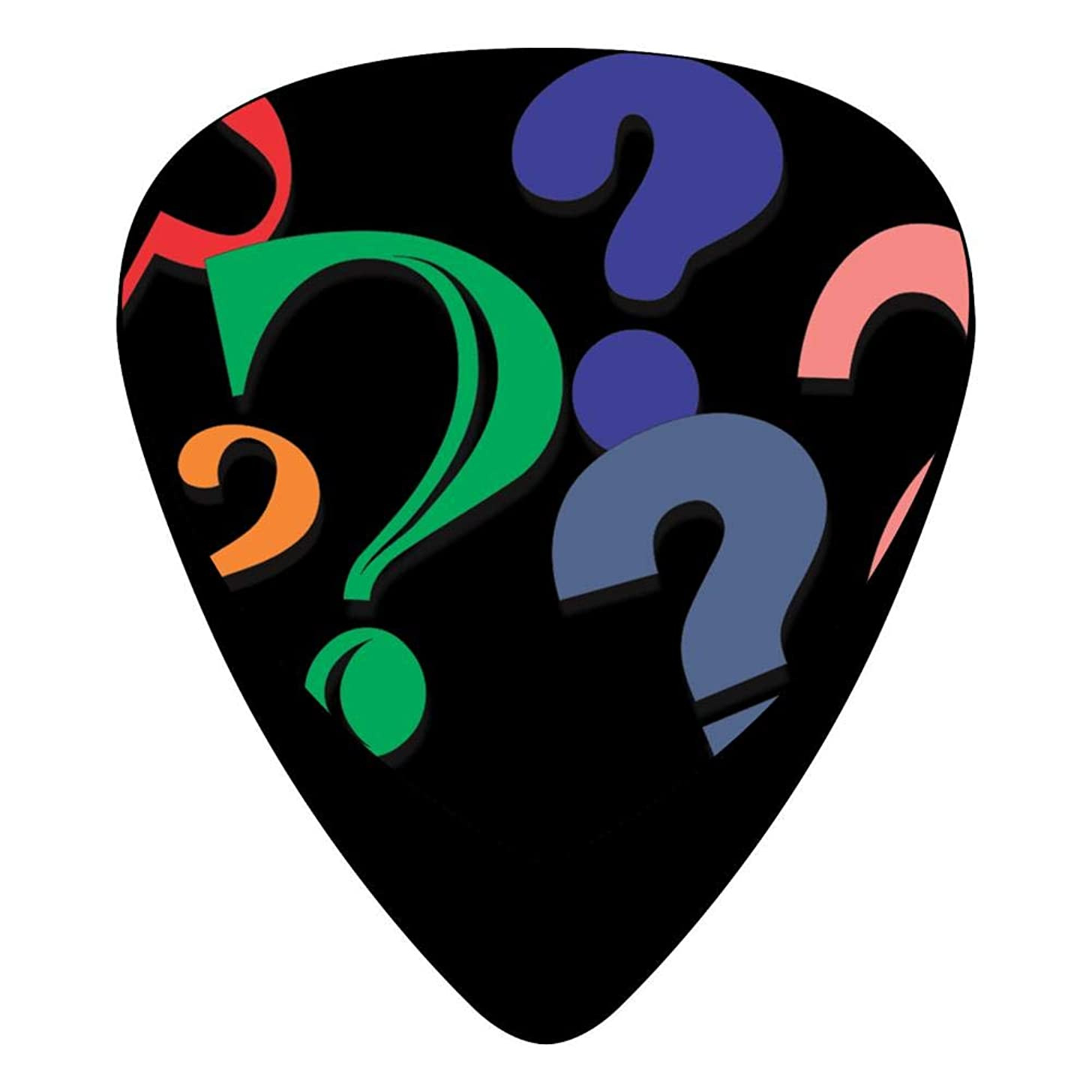 Colorful Question Mark Guitar Picks Celluloid 12 Pack Shape For Acoustic Guitar Mandolin Electric Guitar And Bass