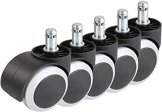 """comprar comparacion Ruedas de repuesto para silla de oficina giratoria, color negro y blanco, 5 unidades 2""""Standard Stem 10X22mm"""