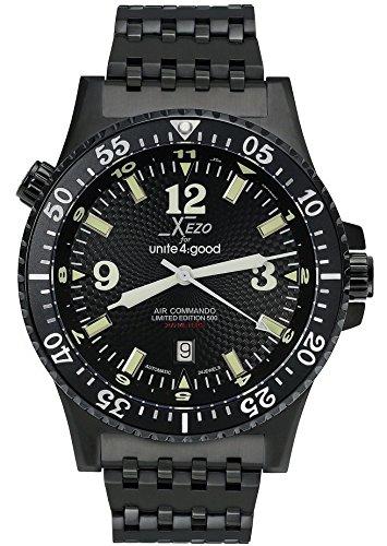 Xezo Air Commando orologio subacqueo da uomo, con movimento automatico giapponese, rif. D45-BL
