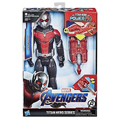 Marvel Avengers – Figurine Marvel Avengers Endgame Titan Power FX – Ant Man et Power Pack - 30 cm - Parle en français - Jouet Avengers