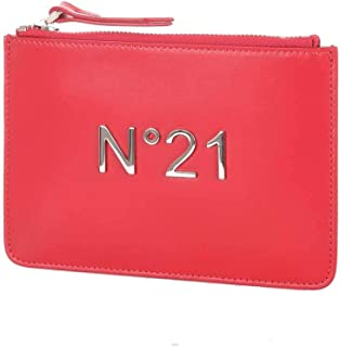 N°21 Women's 17310B356red Red Leather Clutch