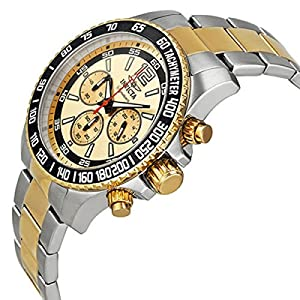 Signature Ii Chronograph Gold Dial Two-tone Mens Watch