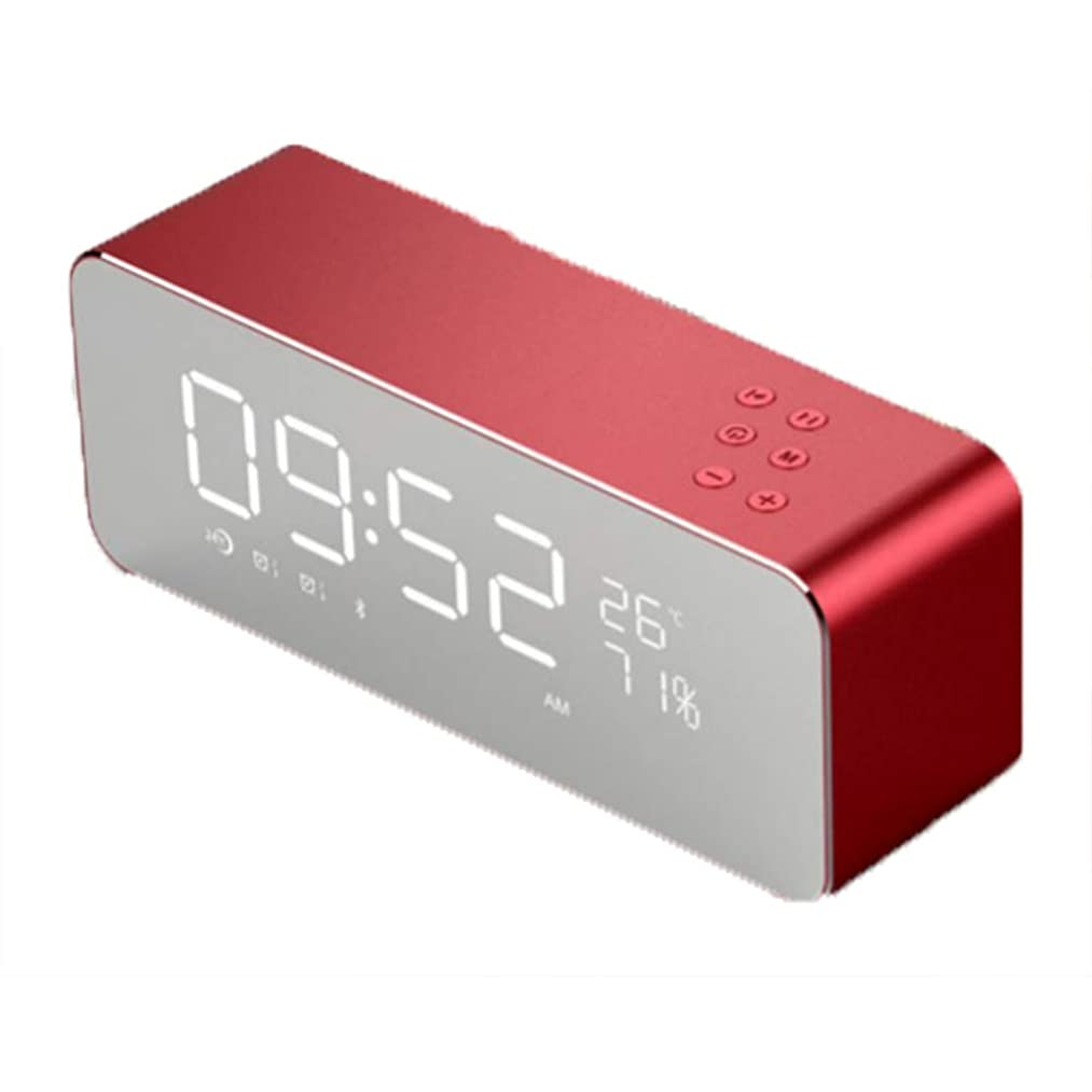 Household appliances Small Home Mirror Bluetooth Music Alarm Clock, Multi-Function high Volume Radio Speaker Clock, Mobile Phone Wireless Mini Computer Audio, Suitable for Living Room Bedroom