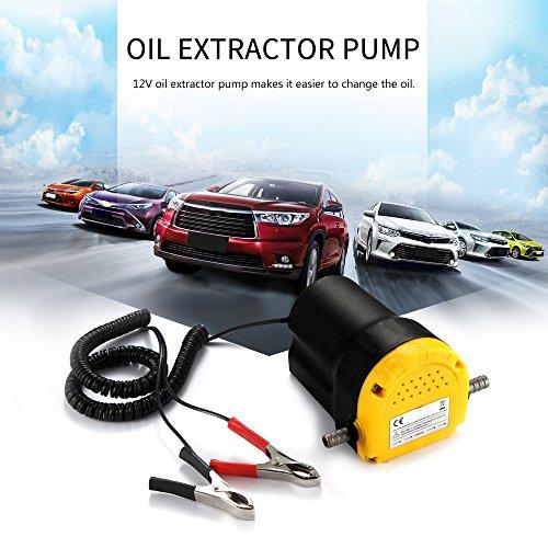 ONEVER Estrattore D'olio Pompa Estrattore di Fluido Olio Motore Estrattore D'olio Pompa Trasferimento Olio 12V 5A Scavengata Car Aspirazione Carburante Elettrico per Auto/Motocicli/Barche/Caravan
