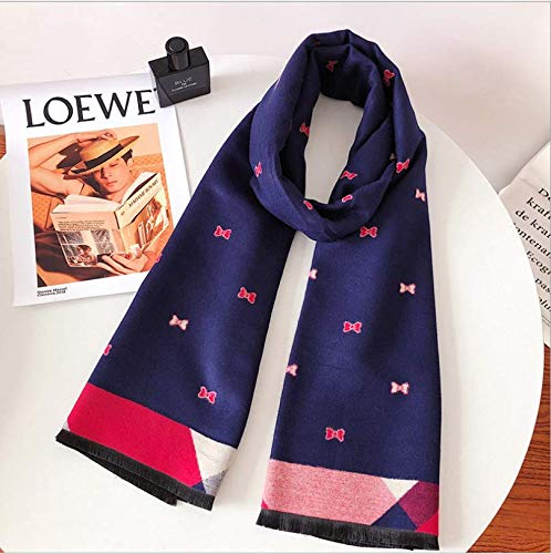 SportingGoods sjaal voor herfst en winter, kasjmier-imitatie, lang, mozaïek-sjaal, bedrukt, warme kraag, meerkleurig patroon
