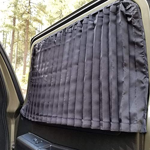 XCBYT Automotive Window Sunshades Privacy Curtains - 2 Pcs Car Interior Sun Blocker Protection Covers Front for Baby Families Metal Frames Magnetic Retractable Foldable Screen Camping Auto Accessories