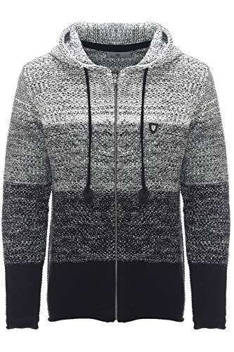 Carisma Herren - Strickjacke 7397 Streetwear Menswear Autumn/Winter Knit Knitwear Sweater Hoodie Jacket CRSM CARISMA Fashion, XL, schwarz,  XL, Black