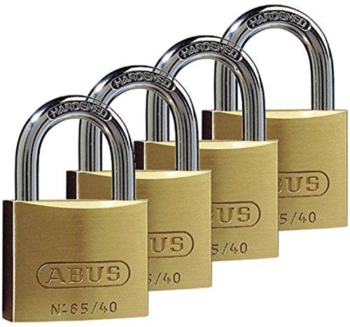 ABUS Vorhängeschloss Quad Pack 65/40 40mm, messing, 35127