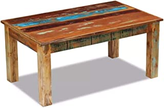 コーヒーテーブルデスク家具家の装飾無垢材再生木材100x60x45cm