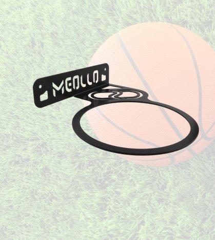 MEOLLO Ball Halter Wandhalterung - Basketball (100 Stahl) (Weiß)
