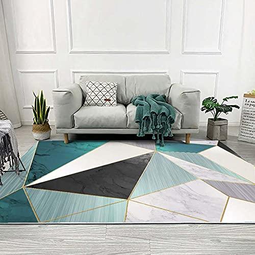 Alfombra de la Sala de Estar Moderna alfombras geométricas Suave Pila Corta anties Deslizamiento Alfombra para el Piso de la habitación del Dormitorio Patio Patio Nursery Decoración-A_120x160cm