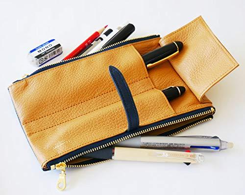 CCOMPANYLIMITEDペンケースルポ2セカンド本革イタリアンレザー筆箱(ネイビー)