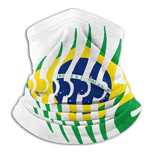 GOSMAO Multifunktionstuch Schlauchschal Mundschutz Brasilien Flagge Fisch Skelett Schlauchtuch Radfahren Sport Motorrad Halstuch Biker Tuch Bandana Kopftuch