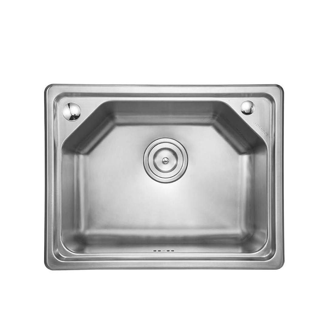 種有利エチケットシンク ブラッシュドステンレスキッチンシンクボウル近代キッチンシンク洗面 キッチンシンク (色 : 銀, サイズ : 52x40CM)