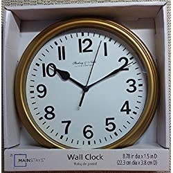 Sterling & Noble 8.75 Analog Wall Clock - Gold