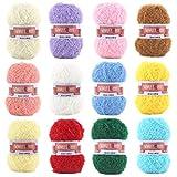 SCYarn 12 Skeins Twinkle sKRubby Yarn Giant Pack Total 2232 Yards Multicolor for Dishcloths, Washcloths, Kitchen Crochet & Knitting Giant Pack Assorted Color