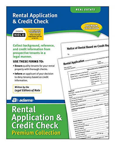 Adams Rental Application & Credit Check Premium Collection, Forms and Instructions (LF213P), White