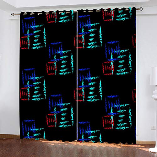 MMHJS 1 Par De Cortinas Decorativas De Colores Gruesos Adecuado para Dormitorio, Balcón, Cortina De Cocina Decoración Personalizada