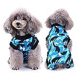 SELMAI Recuperación del Perro Alternativa de Cuello Traje de Cuerpo para Gato Cachorros Caninos Mascota Trajes de Recuperación Quirúrgica para Enfermedades De La Piel Heridas Moda Camuflaje BLU M