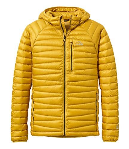 L.L.Bean(エルエルビーン) メンズ ウルトラライト 850 ダウン・セーター、フード付き 米国フィット・レギュラー Sサイズ Golden Saffron イエロー 1000043177
