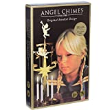 Angel Chimes The Original & Traditional Swedish Candle Decor | Metal Chime Carousel (+4 Candles) Authentic Scandinavian Christmas Decoration & Ornament