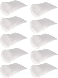 "Fenteer 10pcs 150 4"" Ring Filter Socks Aquarium Tank Marine Sump Filter Bag"