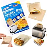 Reusable Toaster Bags Non-Stick Sandwich Toaster Bags Washable Heat Resistant Sandwich Pizza Bread Snack Pockets for Microwave Toaster Oven Grill