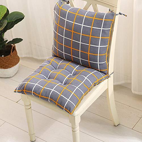 JKCTOPHOME Cojines de Asiento,Oficina de otoño e Invierno Tela Simple con Correas cojín para Silla Integrado-M_40X40cm,Almohadillas para sillas