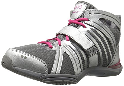 RYKA Women's Tenacity Cross-Trainer Shoe, Silver, 8 M US