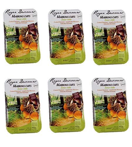 6er Pack Gekochte Maronen - Edelkastanien 6 X 400 Gramm, geschält