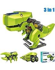 3 w 1 edukacyjne solarne dinozaury robot budowlany zestaw DIY dinozaury zasilanie energią słoneczną robot edukacyjny zabawki dla chłopców i dziewcząt
