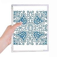 ブルーフラワーilustrationパターンタラベラ 硬質プラスチックルーズリーフノートノート