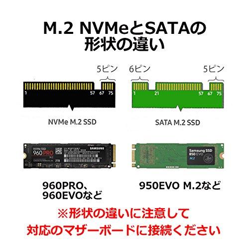 『Samsung SSD 250GB 960EVO M.2 Type2280 PCIe3.0×4 NVMe1.2 3年保証 エコPKG 正規代理店保証品 MZ-V6E250B/EC』の3枚目の画像