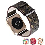 X-cool For Apple Watch ArmBand 38mm mit Metall Schließe Weiches Leder Saison Armband für Apple...