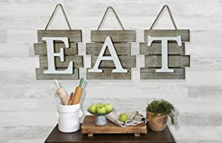 Rustic Barn Designs Eat Sign Kitchen and Home Wall Decor, Distressed Wood, Farmhouse Country Decorative Wall Art, Light Weight, Easy to Hang 24