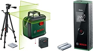 Bosch Cross line Laser AdvancedLevel 360 Set (Horizontal 360° Laser line, Green Laser, 4X AA Batteries, with Tripod, in Bo...