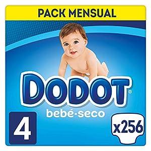 Dodot Bebé-Seco - Pañales Talla 4 (9-14 kg), 256 Pañales, El Unico Pañal Con Canales De Aire
