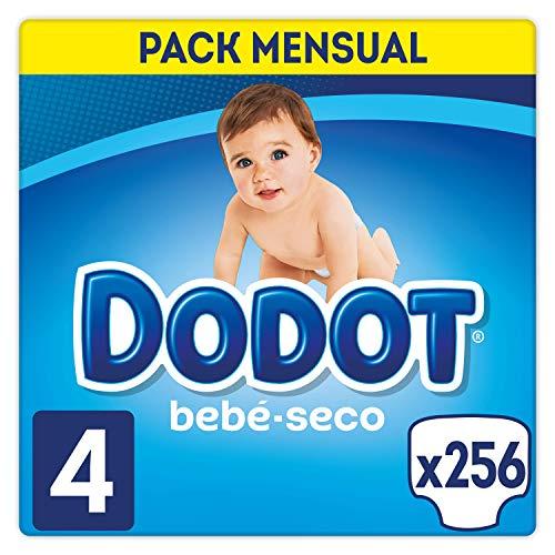 Dodot Bebé-Seco - Pañales Talla 4 (9-14 kg), 256 Pañales