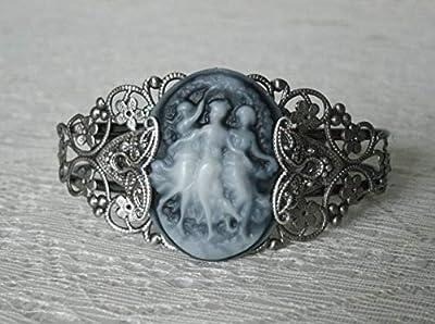 Triple Goddess Cuff Bracelet handmade jewelry wiccan pagan wicca witch witchcraft magic