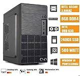- CeO Alpha V8 - Unité centrale de bureau Intel G5400 3.70GHz 4Mo Cache   8Go RAM DDR4   240Go SSD   Intel UHD Graphics 610   HDMI/VGA   USB 3.0   WINDOWS 10 PRO